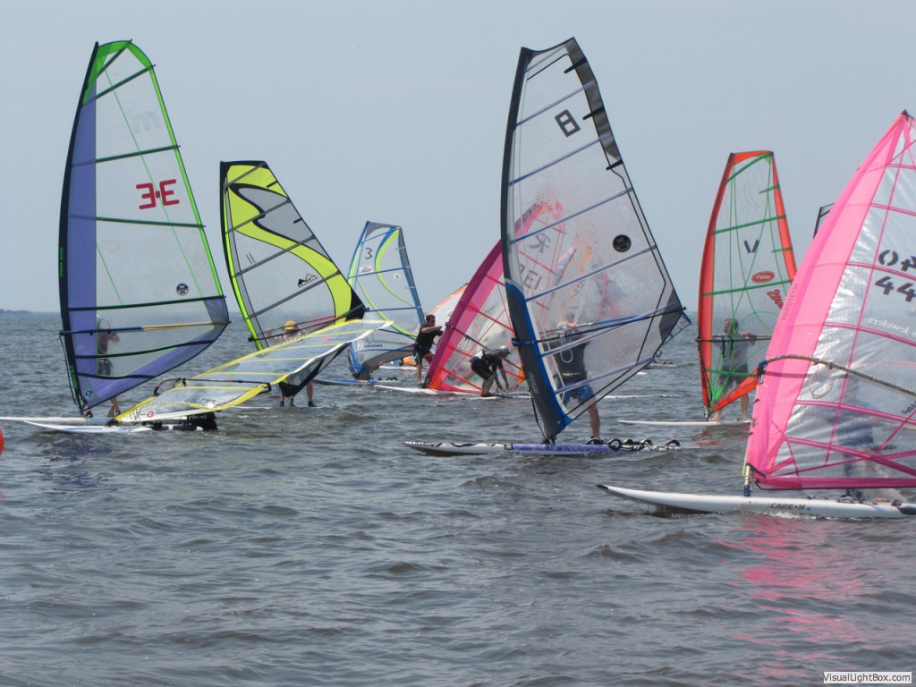 Racing action in Long Island